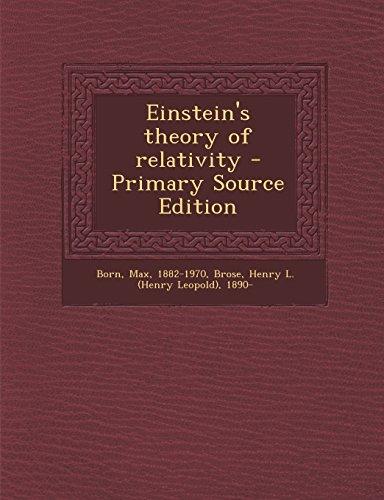 9781295646418: Einstein's Theory of Relativity - Primary Source Edition