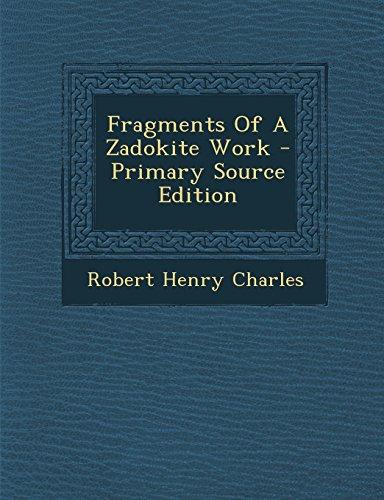 The Zadokite Fragment
