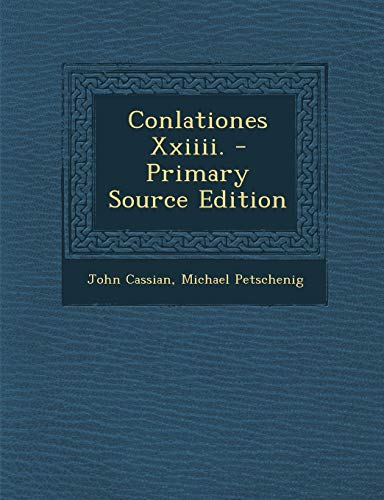 9781295765430: Conlationes Xxiiii. (Latin Edition)