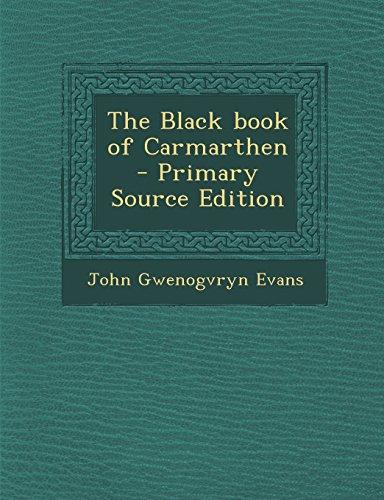 9781295772797: The Black book of Carmarthen