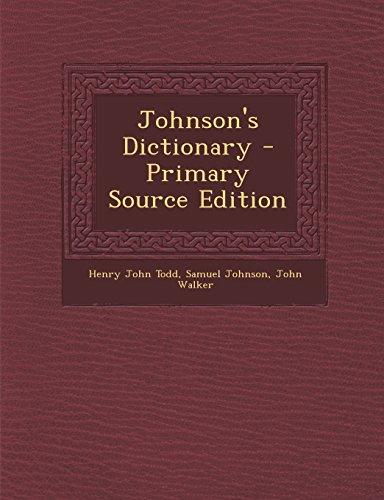 9781295804092: Johnson's Dictionary