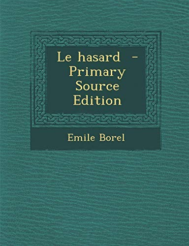 9781295808137: Le hasard (French Edition)