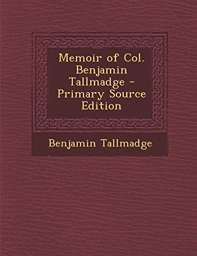 9781295812981: Memoir of Col. Benjamin Tallmadge