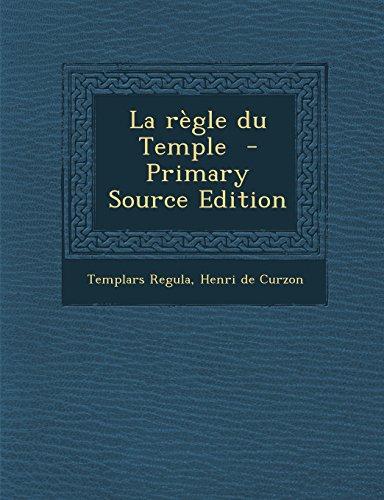 9781295814237: La règle du Temple (French Edition)