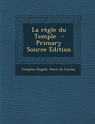 9781295814237: La Regle Du Temple
