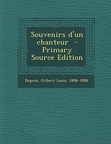 9781295816408: Souvenirs D'Un Chanteur