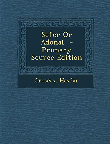 9781295822652: Sefer or Adonai - Primary Source Edition (Hebrew Edition)