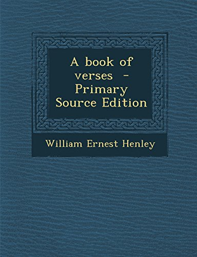 9781295830749: A book of verses - Primary Source Edition