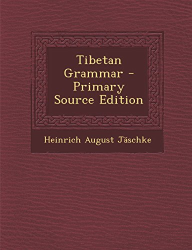 9781295831791: Tibetan Grammar - Primary Source Edition