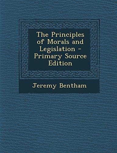 9781295834235: The Principles of Morals and Legislation