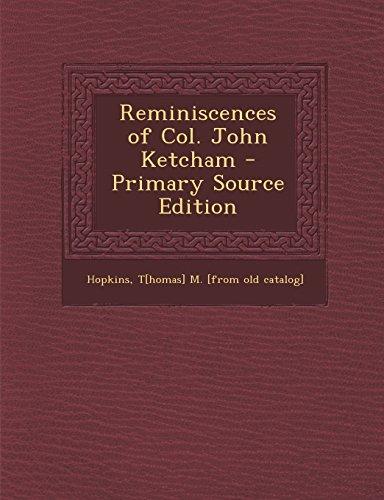 Reminiscences of Col. John Ketcham: Hopkins, T[homas] M. [from old catalog]
