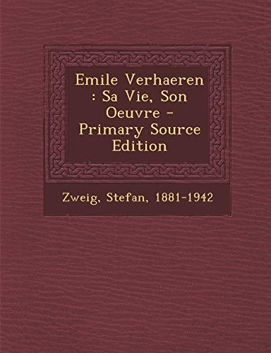 9781295846818: Emile Verhaeren: Sa Vie, Son Oeuvre (French Edition)
