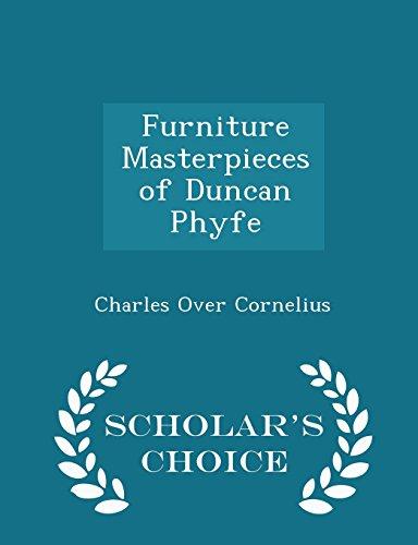 Furniture Masterpieces of Duncan Phyfe - Scholar: Charles Over Cornelius