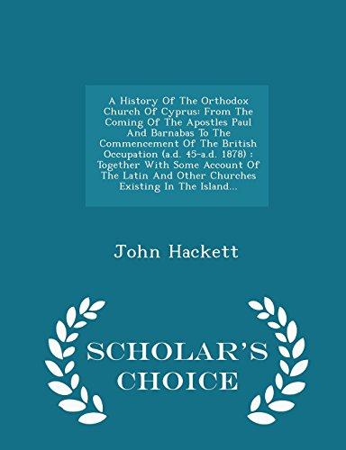 A History of the Orthodox Church of: John Hackett