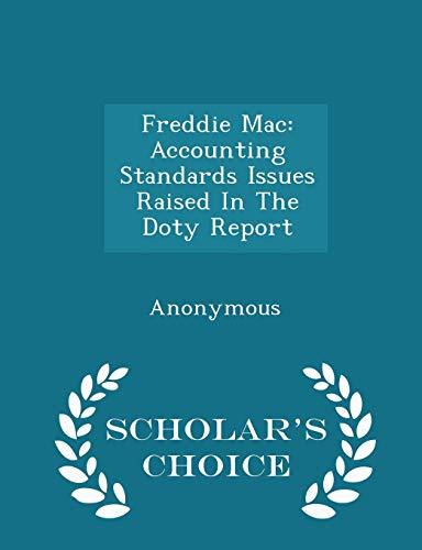 Freddie Mac: Accounting Standards Issues Raised in