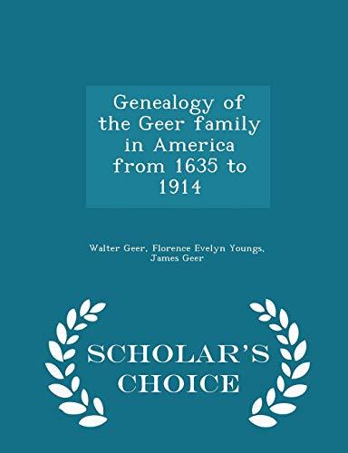 Genealogy of the Geer Family in America: Walter Geer