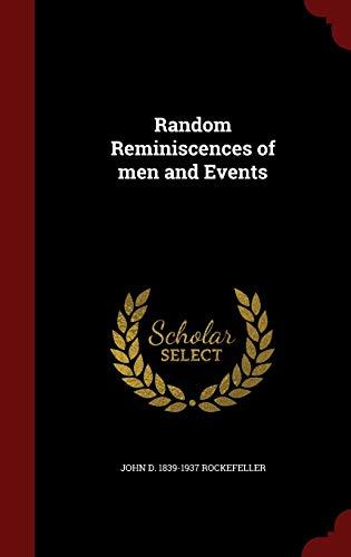 9781296603601: Random Reminiscences of men and Events