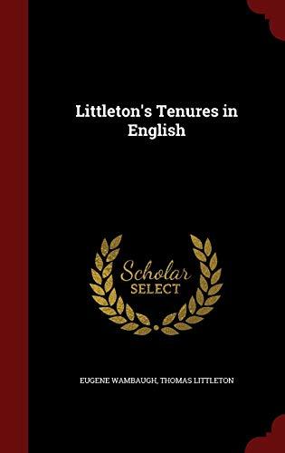 9781296656683: Littleton's Tenures in English