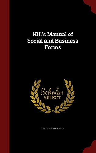 9781296713331: Hill's Manual of Social and Business Forms