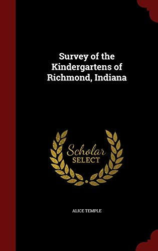 9781296753955: Survey of the Kindergartens of Richmond, Indiana