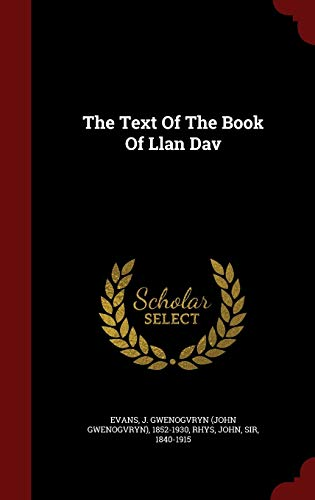 9781296841256: The Text Of The Book Of Llan Dav