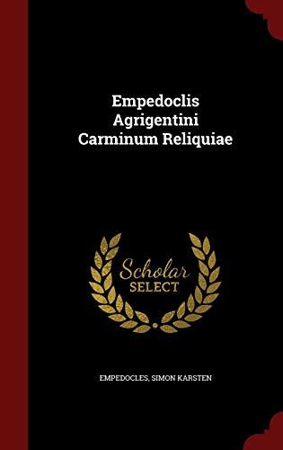 9781296847678: Empedoclis Agrigentini Carminum Reliquiae