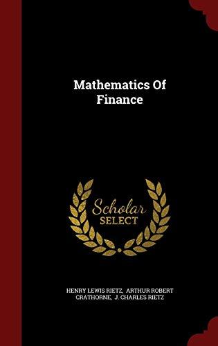 9781296848712: Mathematics Of Finance