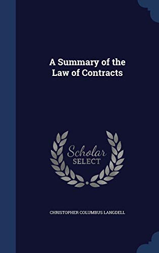 9781296873653: A Summary of the Law of Contracts