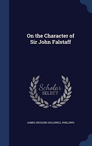 9781296889548: On the Character of Sir John Falstaff