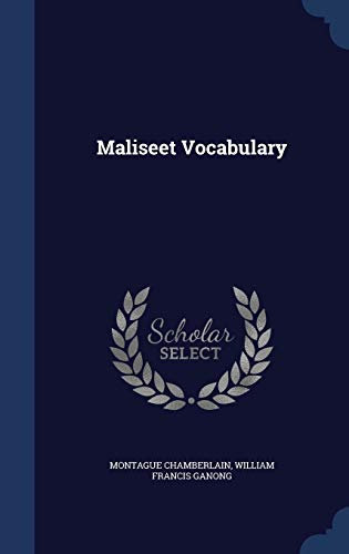 9781296892913: Maliseet Vocabulary