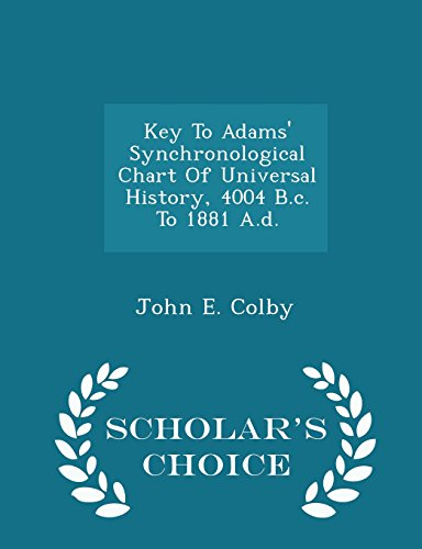 Key to Adams Synchronological Chart of Universal: John E Colby