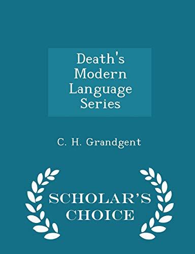 9781297137716: Death's Modern Language Series - Scholar's Choice Edition