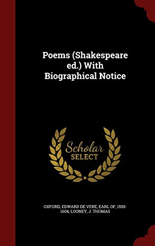 9781297580123: Poems (Shakespeare ed.) With Biographical Notice