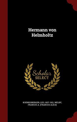 9781297618024: Hermann von Helmholtz