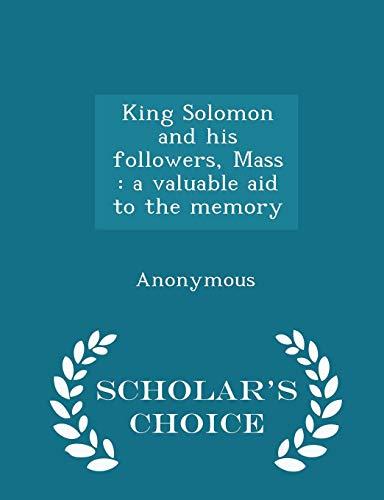 King solomon his followers abebooks fandeluxe Choice Image