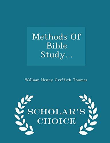9781298036131: Methods Of Bible Study... - Scholar's Choice Edition