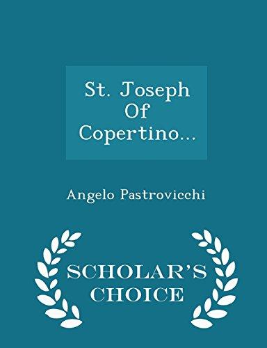 9781298039156: St. Joseph Of Copertino... - Scholar's Choice Edition