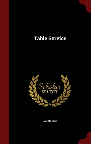9781298495983: Table Service