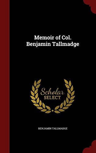 9781298498489: Memoir of Col. Benjamin Tallmadge