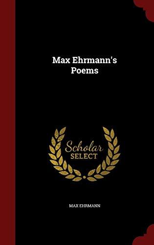 9781298516817: Max Ehrmann's Poems