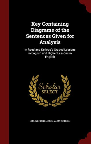 9781298519917: Key Containing Diagrams of the Sentences Given for Analysis: In Reed and Kellogg's Graded Lessons in English and Higher Lessons in English