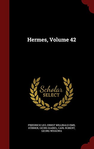 Hermes, Volume 42 (Hardback) 9781298668356 This work has been selected by scholars as being culturally important, and is part of the knowledge base of civilization as we know it. This work was reproduced from the original artifact, and remains as true to the original work as possible. Therefore, you will see the original copyright references, library stamps (as most of these works have been housed in our most important libraries around the world), and other notations in the work. This work is in the public domain in the United States of America, and possibly other nations. Within the United States, you may freely copy and distribute this work, as no entity (individual or corporate) has a copyright on the body of the work. As a reproduction of a historical artifact, this work may contain missing or blurred pages, poor pictures, errant marks, etc. Scholars believe, and we concur, that this work is important enough to be preserved, reproduced, and made generally available to the public. We appreciate your support of the preservation process, and thank you for being an important part of keeping this knowledge alive and relevant.