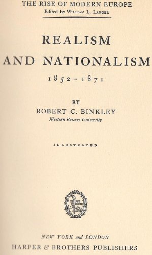 9781299093867: Realism and nationalism, 1852-1871: The Rise of Modern Europe