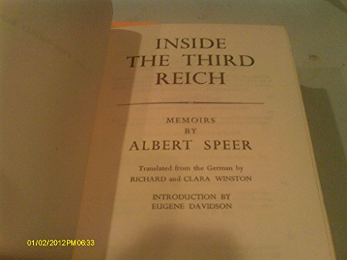 9781299610132: INSIDE THE THIRD REICH