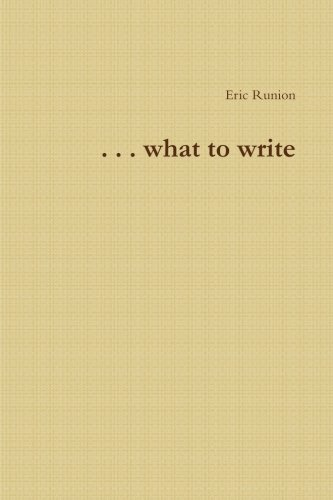 9781300226550: . . .what to write