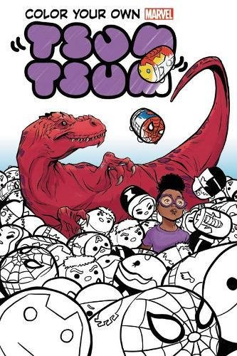 Color Your Own Marvel Tsum Tsum (Paperback)