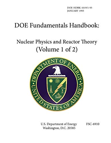 9781304149886: Doe Fundamentals Handbook Nuclear Physics and Reactor Theory - Volume 1 of 2