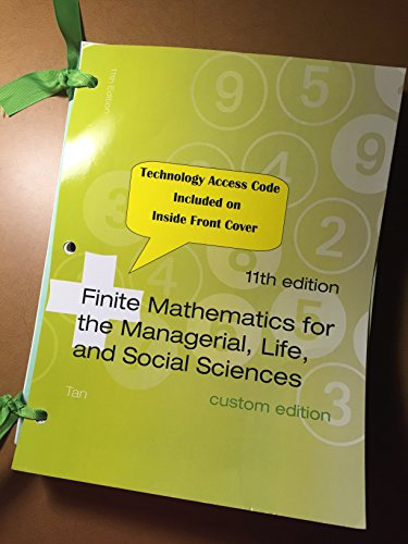 9781305001183: Finite Mathematics for the Managerial, Life and Social Sciences 11th Edition