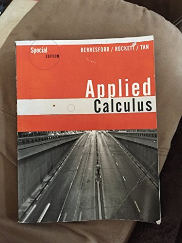 9781305002913: Applied Calculus, Special Edition