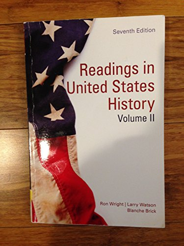 READINGS IN U.S.HISTORY,V.1 >CUSTOM<: Ron Wright; Larry
